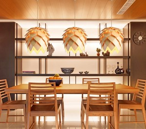 Image 2 - נורדי עץ תליון אור אצטרובל עץ תליון מנורת DIY אמריקאי מודרני תליית מנורת סלון חדר אוכל חדר שינה קפה