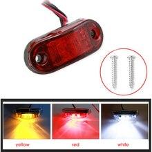 2x Truck LED Strobe Light Side Width Lamp Warning Lights 12V 24V Yellow Red White Motocycle Tractor ATV Bus DRL Tail