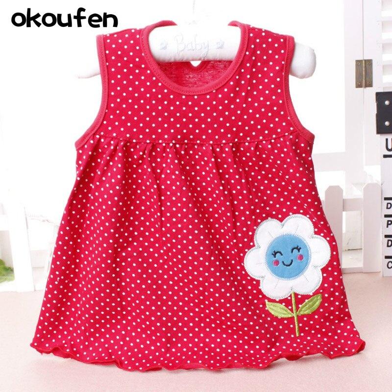 okoufen 2017 fashion toddler girl clothing brand baby girl dresses children kids clothes summer sleeveless dress for girls
