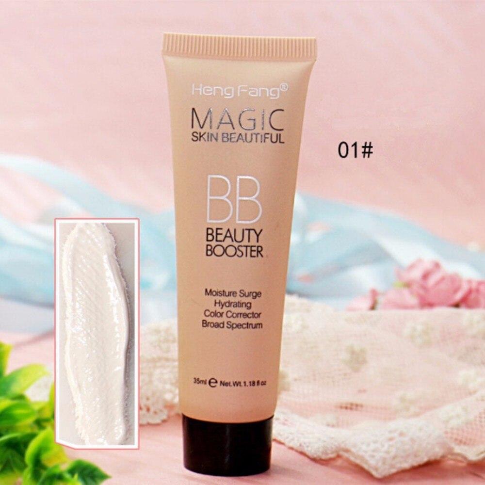 Новинка, профессиональный Осветляющий базовый BB крем, набор для макияжа, Солнцезащитный блок, стойкий водонепроницаемый отбеливающий крем для лица, брендовая корректирующая основа, TSLM2 - Цвет: 01