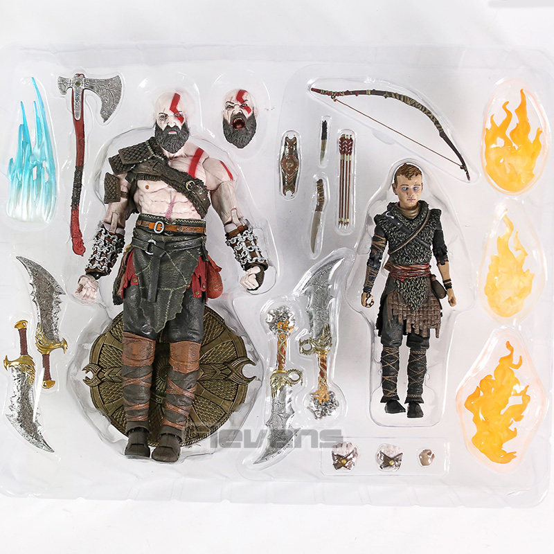 God Of War Kratos /& Atreus Ultimate Action Figure Set Collectible PVC