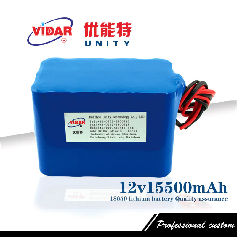 12v 15500mAh capacity 18650 Rechargeable lithium battery pack Power bank  -  Huizhou unity electronic technology co., LTD store