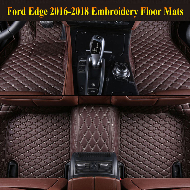 Car Floor Mats For Ford Edge   Foot Carpets Pad Mat Step Embroidery Leather