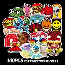 100 PCS Skateboard Fashion brand Logo Waterproof Sticker For