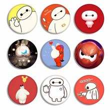 Anime Film Big Hero 6 Cosplay Lencana Kartun Baymax Gambar Bros Pin Perhiasan Tas Pakaian Dekorasi(China)