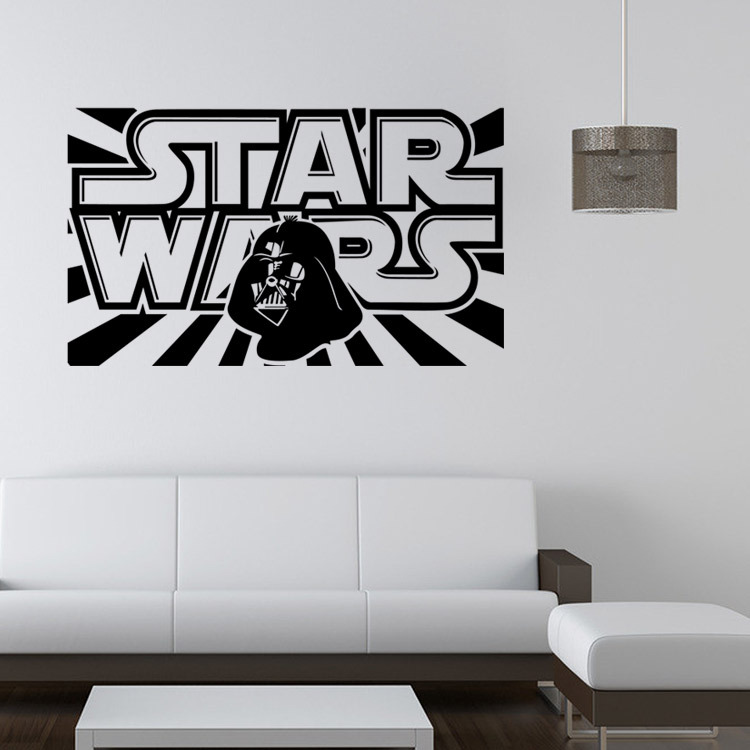 Star Wars Wall Decal With Darth Vader Vinyl Sticker Boys Bedroom Wall Decor  Lego Star Wars Poster Wall Stickers Home Decor  In Wall Stickers From Home  ...