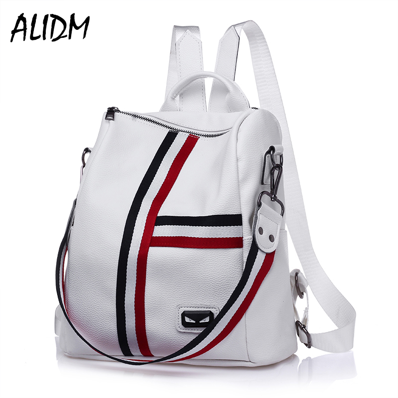 2017 Autumn New Backpack Chinese Style Ladies Fashion PU Leather Leisure Travel Shoulder Bag Students School Bags for Girls korean edition new middle school students college style double shoulder bag leisure pack men and women s travel backpack
