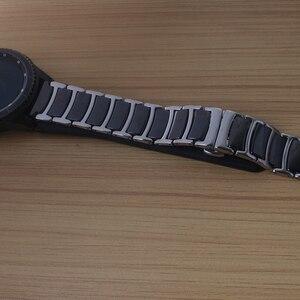 Image 5 - 20 ミリメートル 22 ミリメートルセラミックとステンレス鋼時計バンド黒時計バンドストラップ蝶バックルリストバンドブレスレットポリッシュシンナー