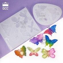 1 шт форма бабочки жидкий силикон Плесень DIY Смола ювелирные изделия Плесень Для эпоксидной смолы УФ Смола плесень