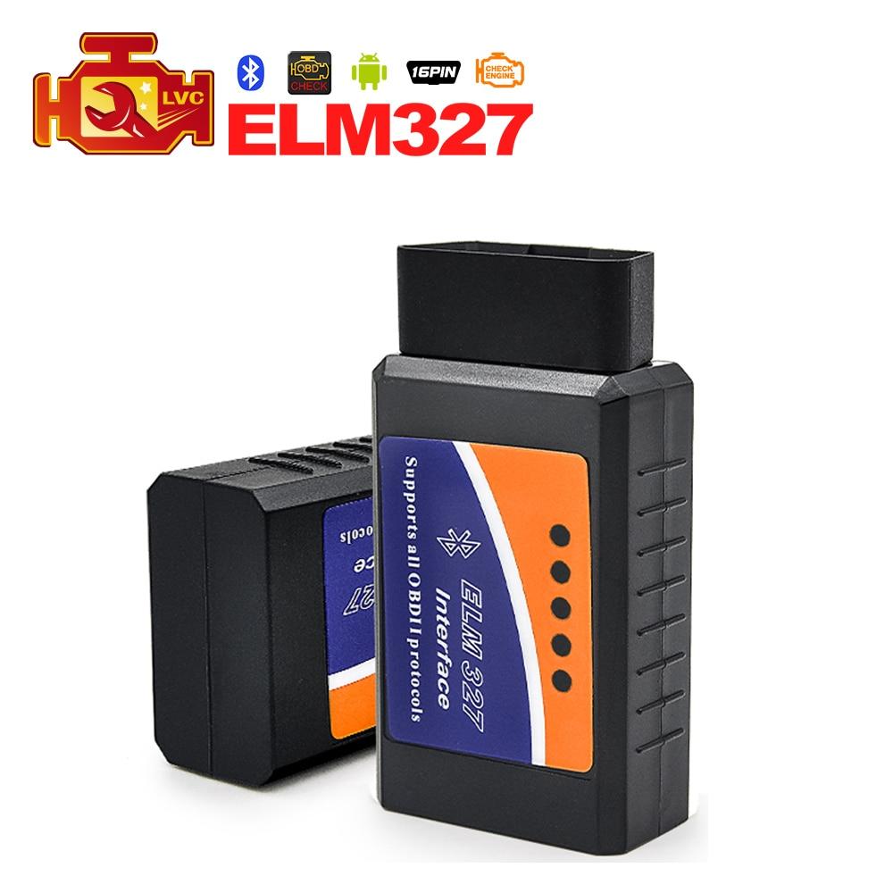 Prix pour Elm327 bluetooth ELM 327 OBDII Interface De Diagnostic OBD2 Auto Voiture De Diagnostic Scanner pour android couple logiciel livraison gratuite