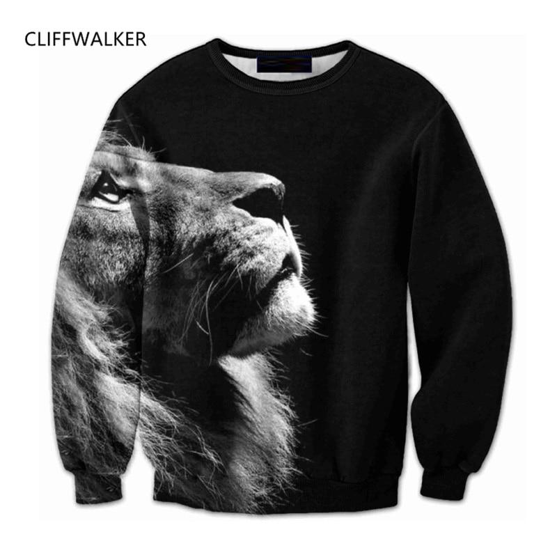 Dropshipping New For Mens Womens Sweatshirt Hoodies Big Lion Animal 3D Printing Cool Jacket Fashion Spring Sweats Tops 6XL