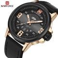 New Luxury Brand NAVIFORCE Leather Sports Watch Relogio Masculino Men Army Military Wrist Watches Men's Quartz Date Clock Male