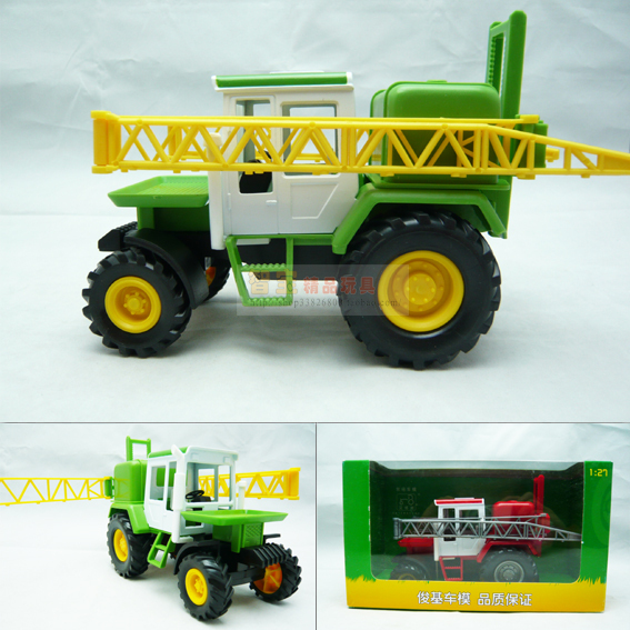 Farm tractor fence tractor luxury gift box set alloy car model