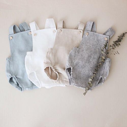 Cute Newborn Kids Bodysuit Baby Boy Girl Clothes Babygrow Jumpsuit  Sunsuit Outfits Soild Children's Clothes Summer 2019