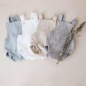 Cute Newborn Kids Bodysuit Baby Boy Girl Clothes Babygrow Jumpsuit Sunsuit Outfits Soild Children's Clothes Summer 2019(China)