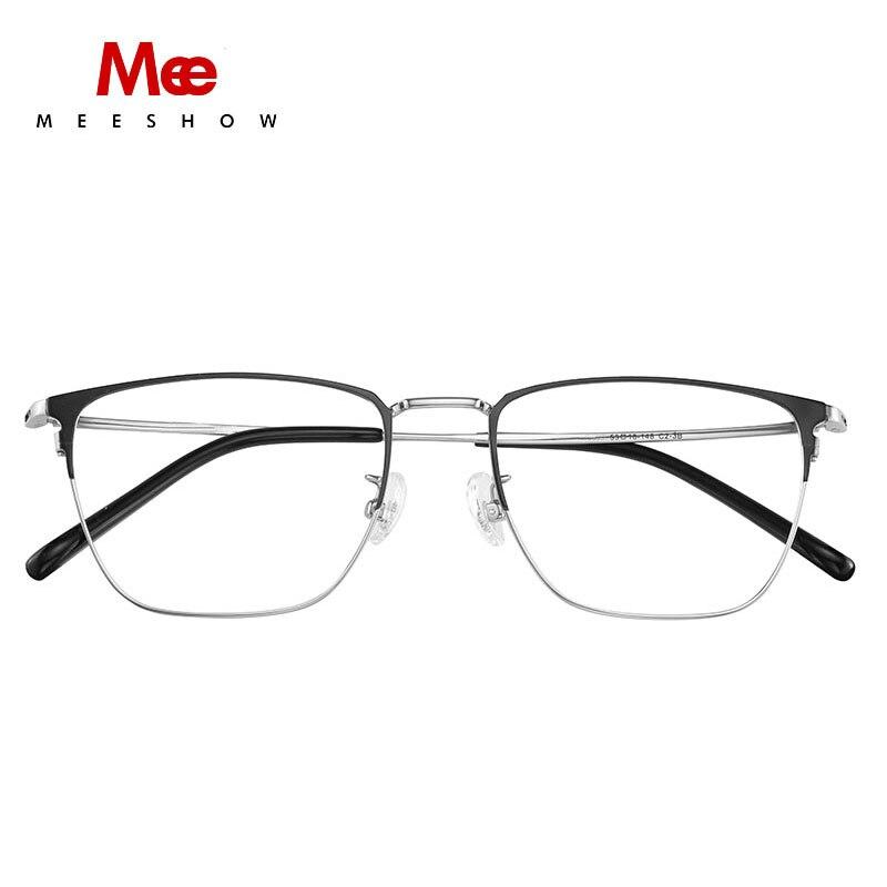 Montura de gafas de titanio Meeshow B para hombre y mujer, montura óptica, gafas cuadradas, gafas de titanio, miopic, 1812 - 2