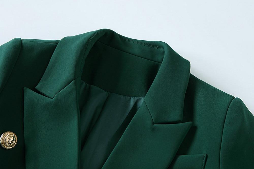 Haut Longues Slim Manteaux De Blazers Manches Double À Veste Piste Breasted Xxl Femelle Vert Designer Automne Office Luxe Femmes 2018 Lady Gamme wgq5UO