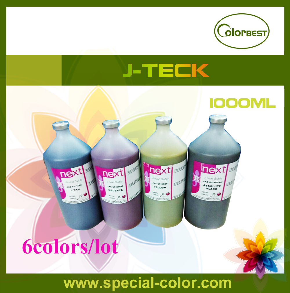 Hot Selling! for Epson DX4 DX5 DX7 Printhead Ink J-next Subly JXS-65 1000ml Bottle Ink led uv ink for epson printhead uv printer for metal pvc kt board pmma etc bk c m y white 1000ml 5