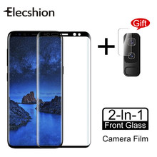 Screen Protector Glass For Samsung Galaxy S10 S9 S8 Plus S7 Edge Full Curved Tempered Glass Film For Samsung Note 8 9 S8 S9 S10(China)