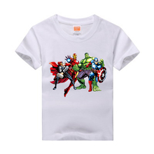 2017 New Kids Summer Short Sleeve T shirt Boys hero printed 100 Cotton Anime t shirts