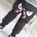2-7Y Cute Bird Pattern Pants Kids Toddler Boys Cotton Warm Harlan Pants Trousers LL7
