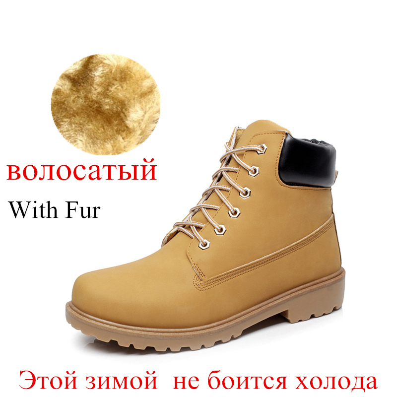 Suede leather man boot Winter men boots ankle shoes warm snow velvet fur work martin cowboy motorcycle male shoe lace-up 602 hot sale winter warm fur inside luxury men boots comfortable round toe brand man casual shoes genuine leather ankle boots 38 44