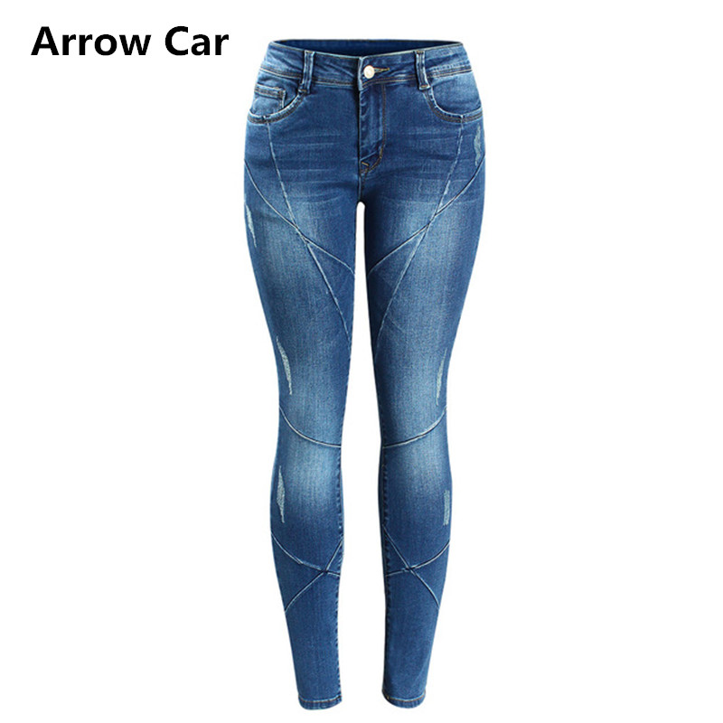 Basic Jeans Women Denim Pencil Pants Branded Stretch Jeans High Waist Pants For Woman High Waist Washed Skinny Jeans Femme