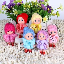 5pcs/lot 8cm Cute Princess Doll Stuffed Toys / Mini Ddgir /Phone Hanging Christmas Gifts for Girls Children Drop Free Shipping(China)