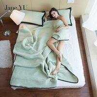 JaneYU Solid High Grade Blanket Comforter Bed Cover Quilting Summer Quilt Home Textiles Suitable for Children Kids Men Adult