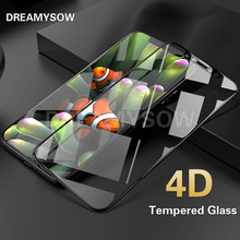 4D Full Cover Screen Protector Film Glass for iPhone 6 6S 7 7 8 plus X New 3D Upgrade Cold Carving 9H Color Tempered Glass Film