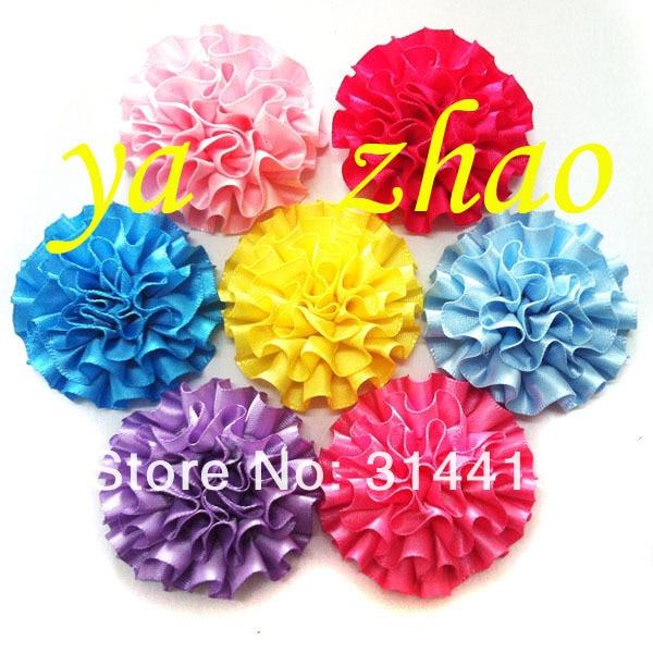 """Полоска заказ, """" цветок ленты, цветок волос, 80 шт./партия, Смешанные 20 цветов"""