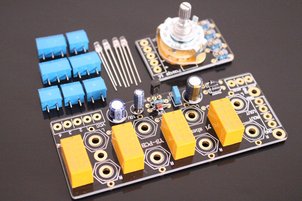 4 Way Audio Input Choose Board / Stereo Audio Selector Switch Board For AMP DIY boss audio ls 2 line selector pedal line selector and input output router