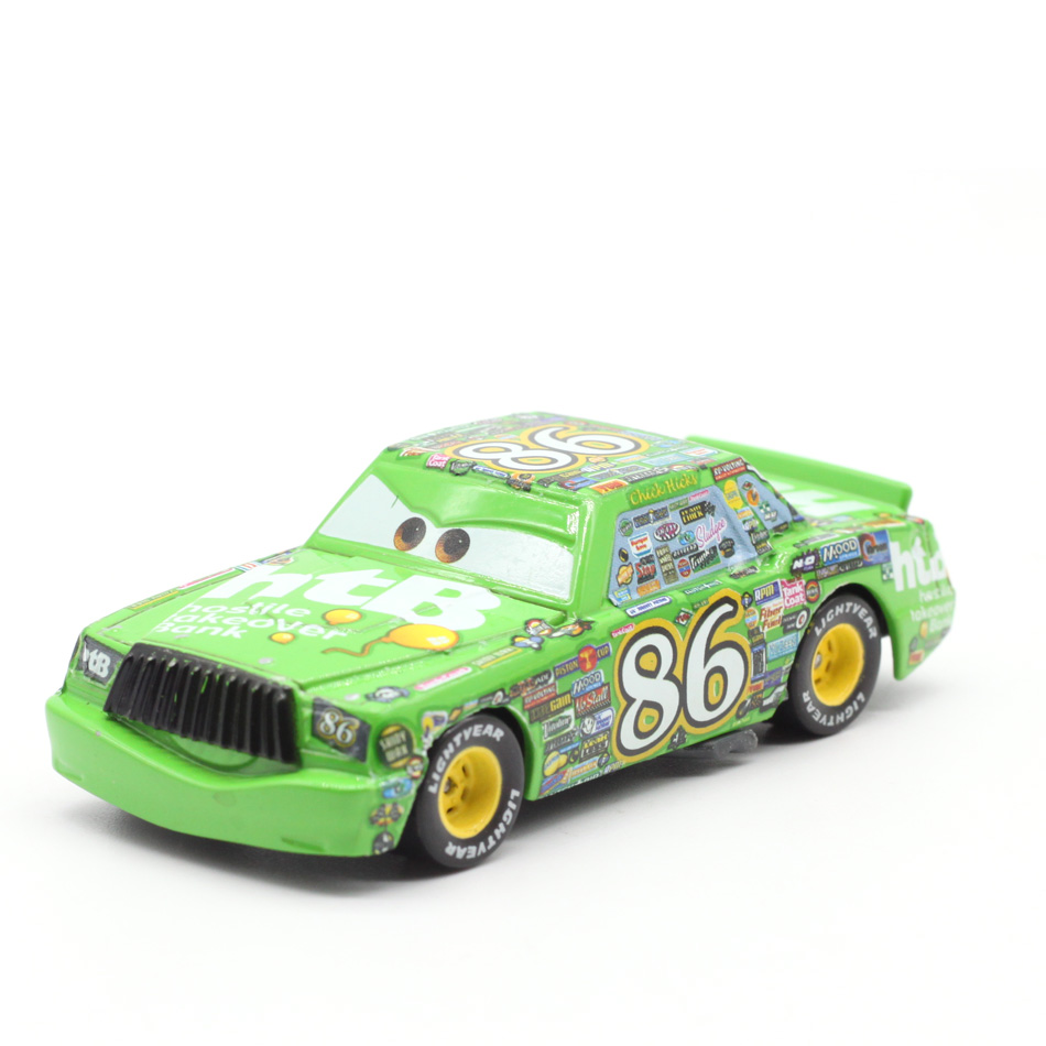 Disney Pixar Cars 2 3 Lightning McQueen NO:86 Chick Hicks Metal Diecast Toy Car 1:55 Loose Brand New In Stock & Free Shipping