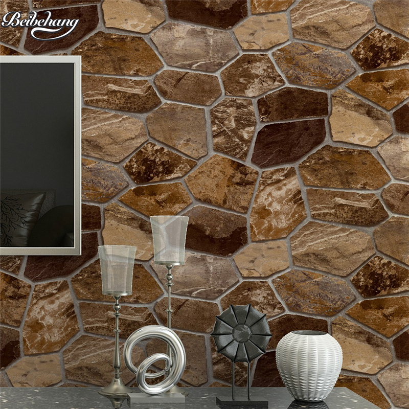 beibehang to nature and culture of stone walls three - dimensional simulation of rock network KTV cafes billiards hall wallpaper купить
