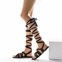 Mulher verão sandálias de gladiador sandálias de salto alto feminino chaussures femme sandalias de verano para mujer sapatos