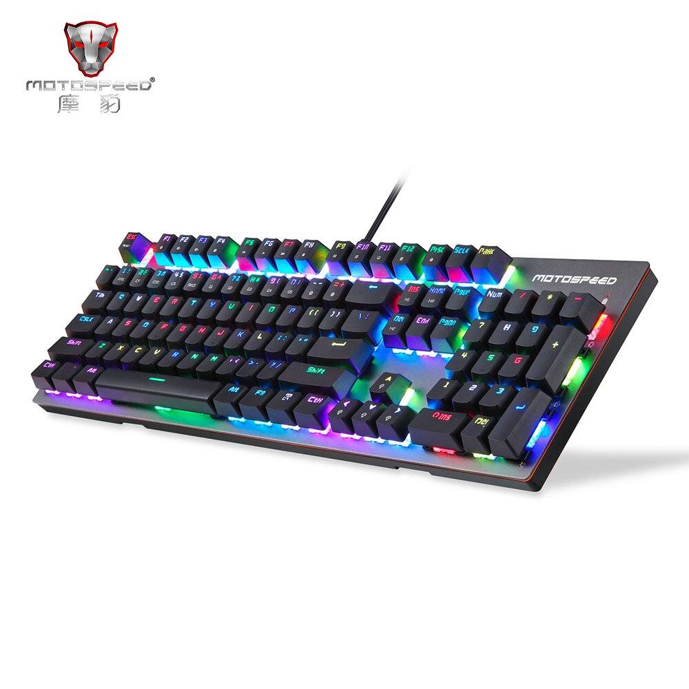 Motospeed ck89 nkro interruptor da caixa de kailh teclado mecânico usb com fio real rgb backlight para jogos