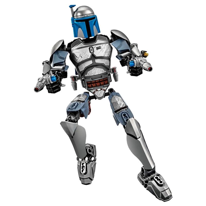 Звездные войны сборная фигура строительный блок Штурмовик Дарт Вейдер Kylo Ren Chewbacca Boba Jango Фетт фигурка игрушка для детей - Цвет: Jango Fett
