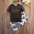Summer Boys Clothes 2016 New Baby Boy Clothing Set  Kid T Shirt Tops Pants Trousers Clothes Outfits Set