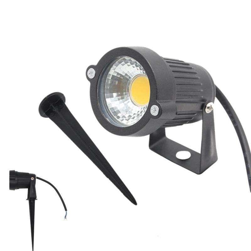 Led Outdoor Spike Light: IP65 Waterproof AC DC 12V LED Garden Lights 7W COB LED