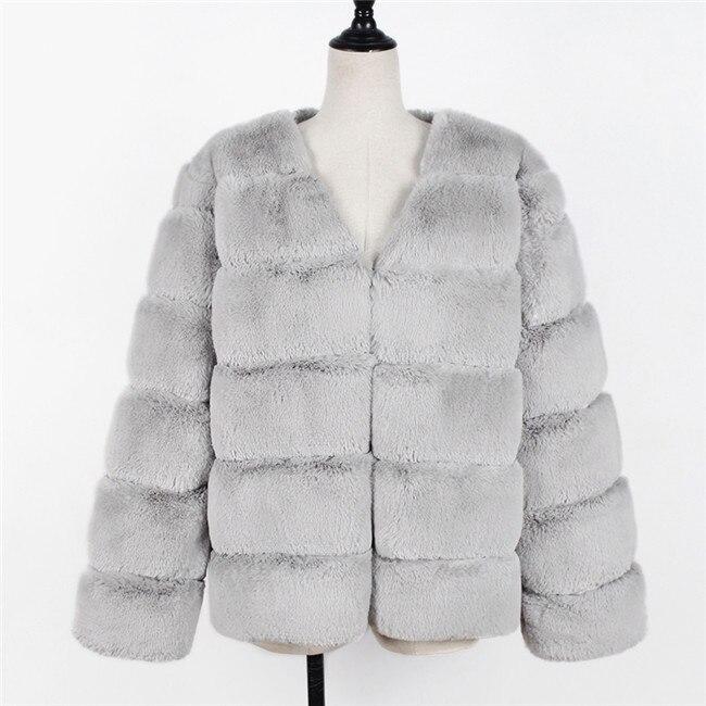 Plus Größe 3XL Frauen 2018 Winter Mode Patchwork FAUX Pelz Mantel Elegante Dicke Warme Oberbekleidung Pelz Jacke Chaquetas Mujer 6Q2152