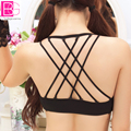 Fashion B CUP Spaghetti Beauty Back Young Women's Bra Removable Strips Back Cross Floral Mesh Sexy Female Intimates Underwear