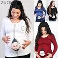 Divertido bebé de carga t camisas l-5xl mujeres embarazadas de maternidad de manga larga t shirt ropa tops tees embarazo wear clothing yl567