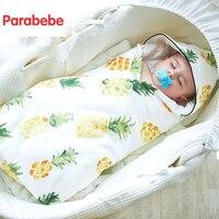 87X85CM High Quality Autumn Winter 100% Cotton Newborn Supplies Baby blanket Thin Quilt Neonatal Thicken swaddle For 0 18 Months