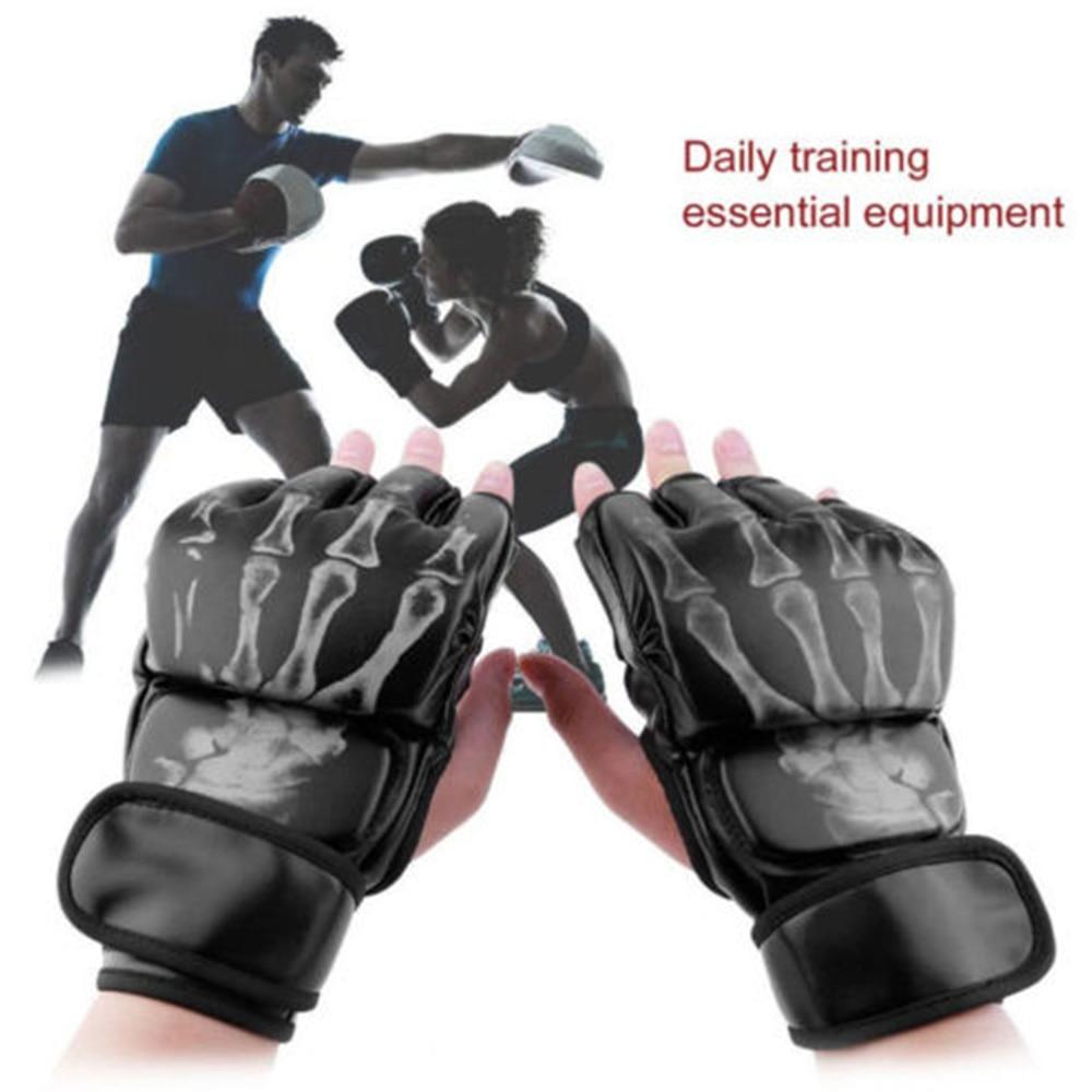 Grappling Half Finger MMA Gloves Training Punching Boxing Sparring Gloves