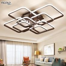 Квадратный Circel кольца потолочные светильники для гостиная спальня дома AC85-265V современный светодио дный светодиодный потолочный светильник lustre plafonnier