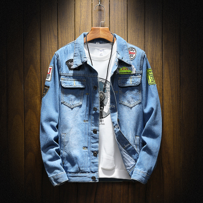 Jeans Hombre Chaquetas Moda Para Slim 2018 Chaqueta Fit Denim xHOASwZ