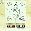 OPHIR 2Pcs DIY Temporary Tattoo Jewelry Gold Tattoo Stickers Angel Designs Flash Metallic Tattoos for Body Art_MT034+MT035
