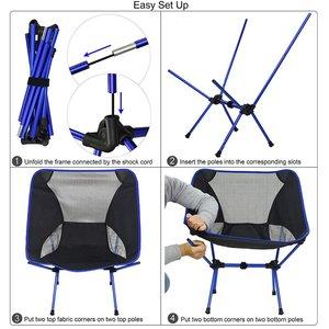 Image 5 - Silla de pesca ligera y portátil, taburete sólido para acampar, muebles plegables para exteriores, sillas ultraligeras