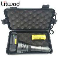 LED lampe de poche de plongée XM-L T6 sous-marine IPx8 lampe de poche étanche 5000LM torche de plongée lampe de plongée lanterne pour la natation