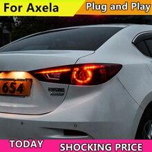 Estilo do carro conduziu a lâmpada de cauda para mazda 3 axela conjunto de lanterna traseira 2014 2017 para mazda 3 luz traseira drl + ligue a luz do sinal com 4 pces.